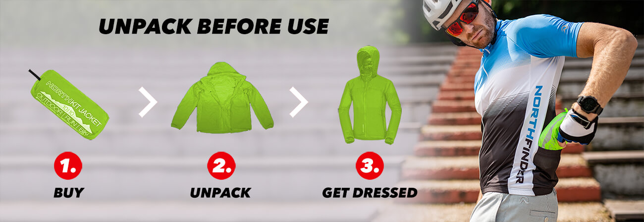 NORTHKIT waterproof packable jackets and pants for hiking